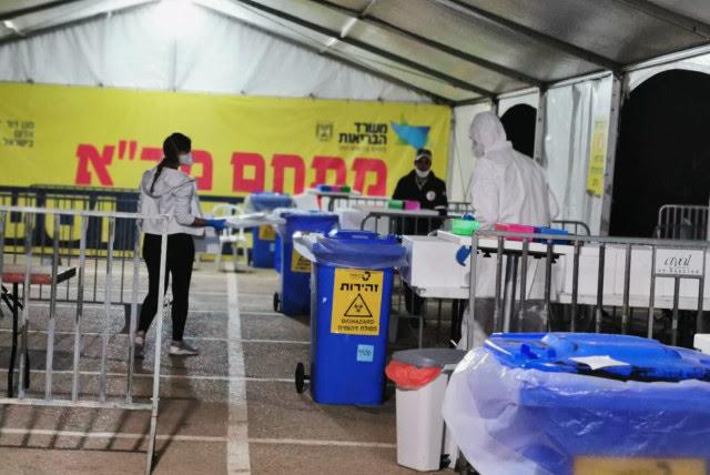 A coronavirus treatment center in Beersheba  (photo credit: YASSER OKBI)
